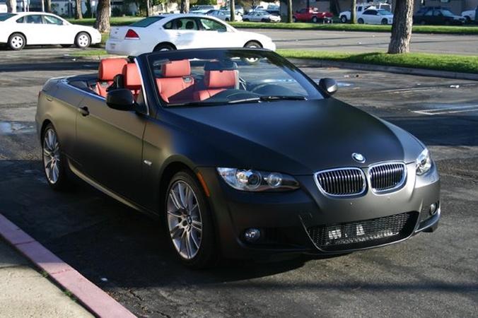 black bmw convertible. matte black bmw 335i convertible bmw l
